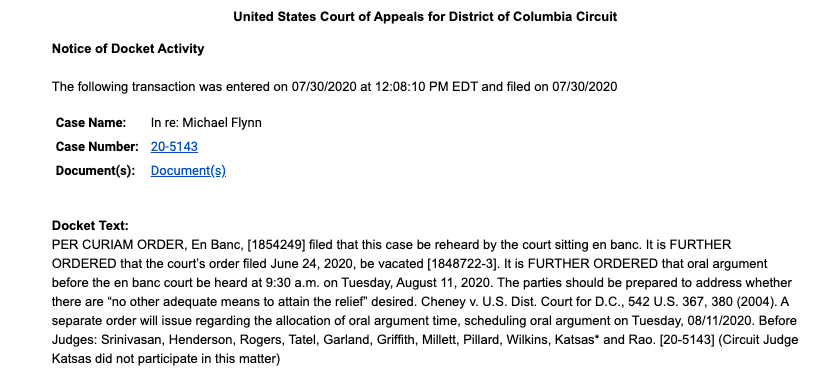 test Twitter Media - RT @MikeScarcella: Break: DC Circuit will rehear Michael Flynn case as full court, per new order https://t.co/uatExzgeFQ