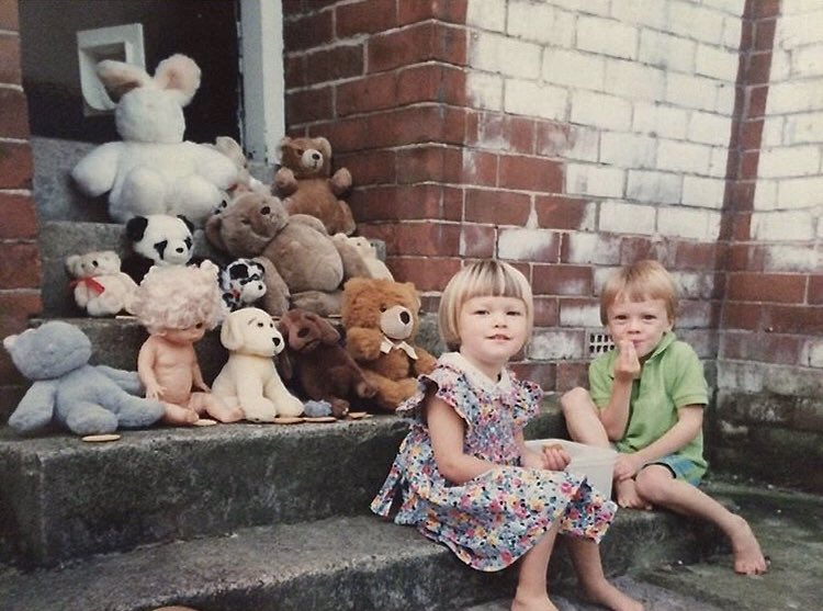 Amber and Hamish. Whitley Bay, 1994. Photo submitted by Amber Todd.