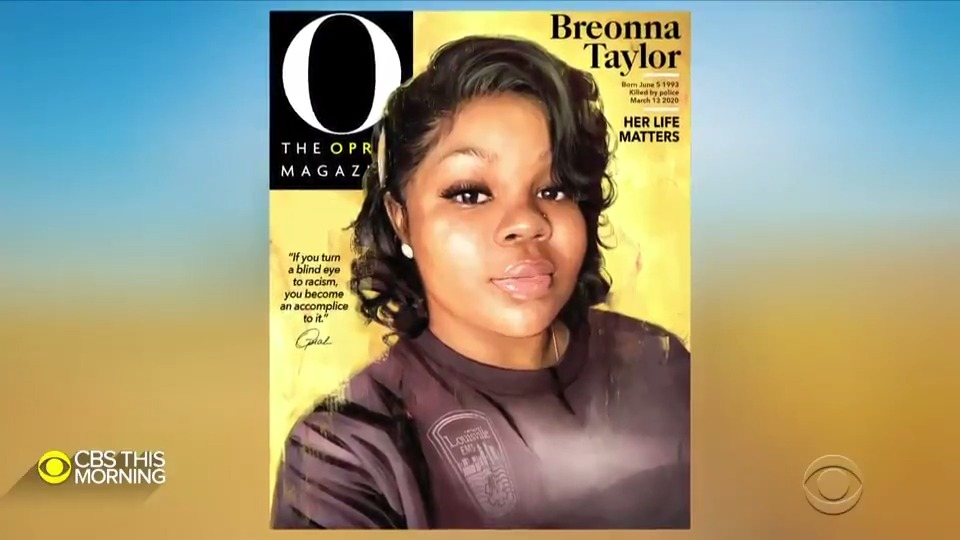 JUST REVEALED: The September cover of @OprahMagazine is 26-year-old Breonna Taylor.  @Oprah says she chose to feature Taylor in order to recognize her as a symbol in the social justice movement.  @vladduthiersCBS spoke to Oprah Winfrey for #WhatToWatch on @CBSThisMorning. https://t.co/3RAYxg7VK1