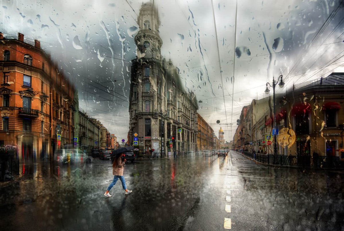 Фото Эдуарда Гордеева - дождь в СПб