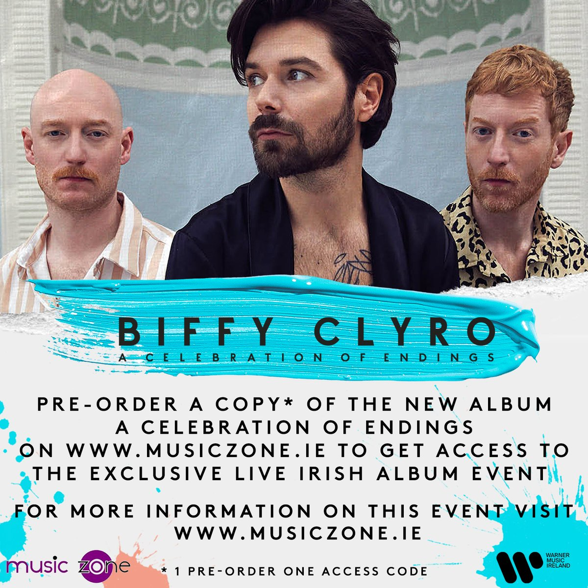 We are delighted to announce @BiffyClyro have partnered with @MusicZoneDV to celebrate the Irish release of the new album! Pre-order a A Celebration of Endings from @MusicZoneDV to gain access to a one off private virtual in-store zoom on August 18th. WMI.lnk.to/ACOEMUSICZONE