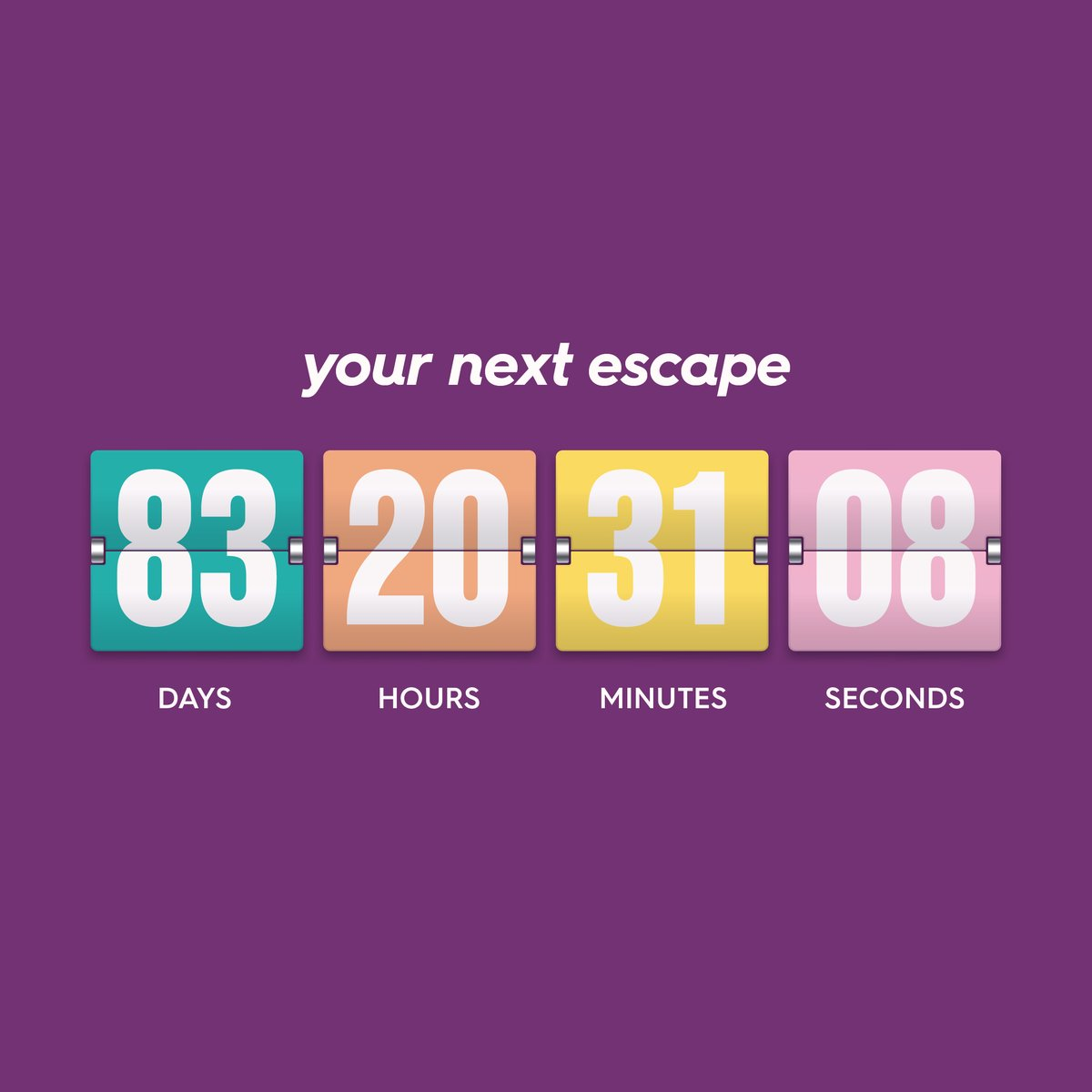 The second best thing about holidays (after being here!) is counting down!  Secure your October Half Term break with a 20% deposit today and the balance won't be due until 3rd October  https://t.co/sDbfpc4Kts https://t.co/cTibwR2Ag9