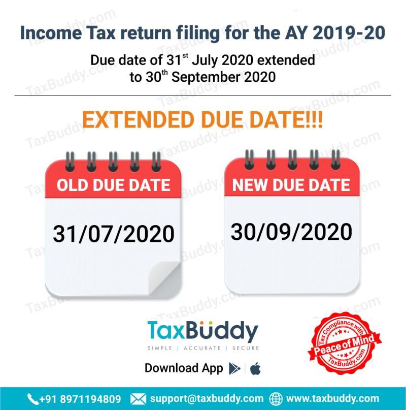 Income Tax Due Date For Fy 2019 20