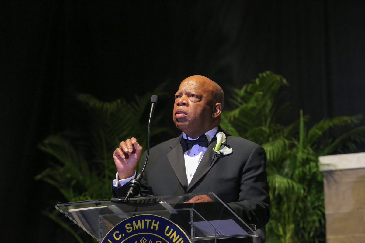 Thank you, Congressman Lewis, for your courage and leadership. We celebrate his legacy and challenge ourselves to continue his work. Rest in Power. #GoodTrouble. https://t.co/Dy3ChwxjuJ