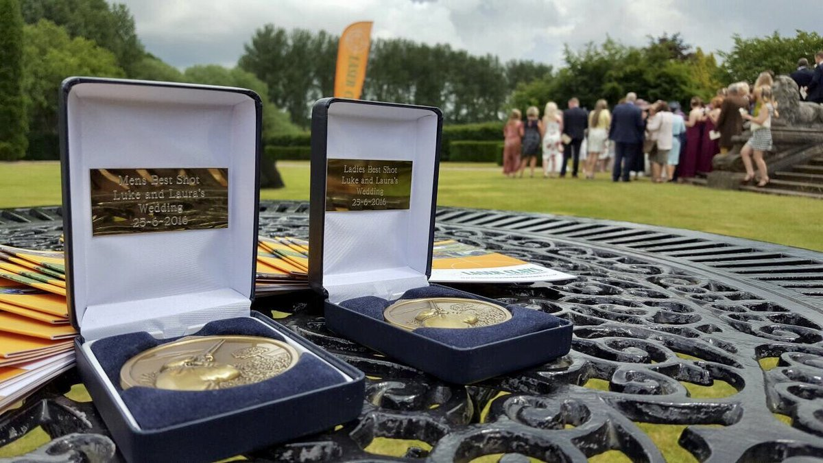 After every event, we present the best shots with some luxury, personalised medals or trophies. It's a great way to finish off a a fun filled day!   #laserclaypigeonshooting #claypigeonshooting #weddingvendor #weddingentertainment #corporateentertainment #evententertainmentideaspic.twitter.com/OdC2mcfYxe