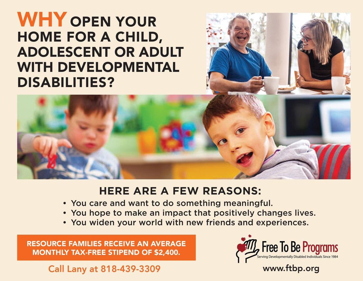 You can foster children or support adults with developmental disabilities. Though you do not need to be married or partnered to foster or adopt, if you are, the $2400 tax free monthly stipend can sometimes enable one partner to stay at/work from home. #Options. #Selfemployedlife pic.twitter.com/Q0TWldvvZi