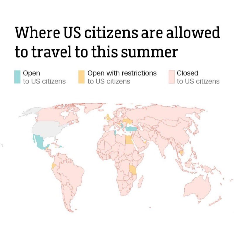 Most of the world is off limits for Americans https://t.co/o4jSYv9nIH