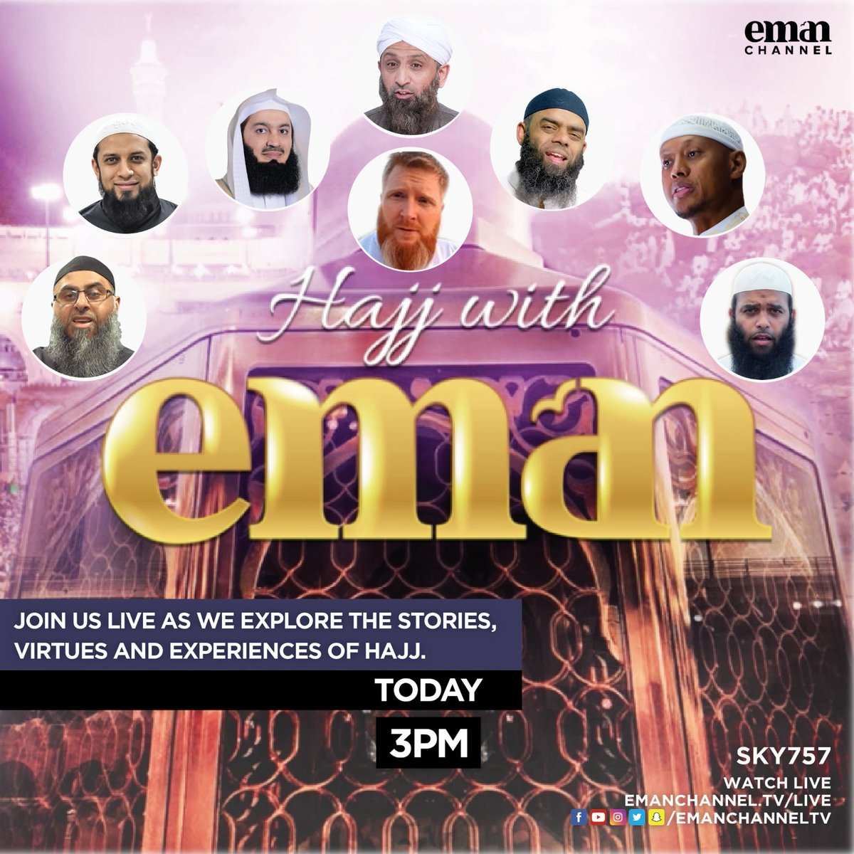 HAJJ WITH EMAN IS GOING LIVE FROM ARAFAH AT 3PM! LINK IN BIO https://t.co/jNpo1humhZ https://t.co/WNIiKvHyJF