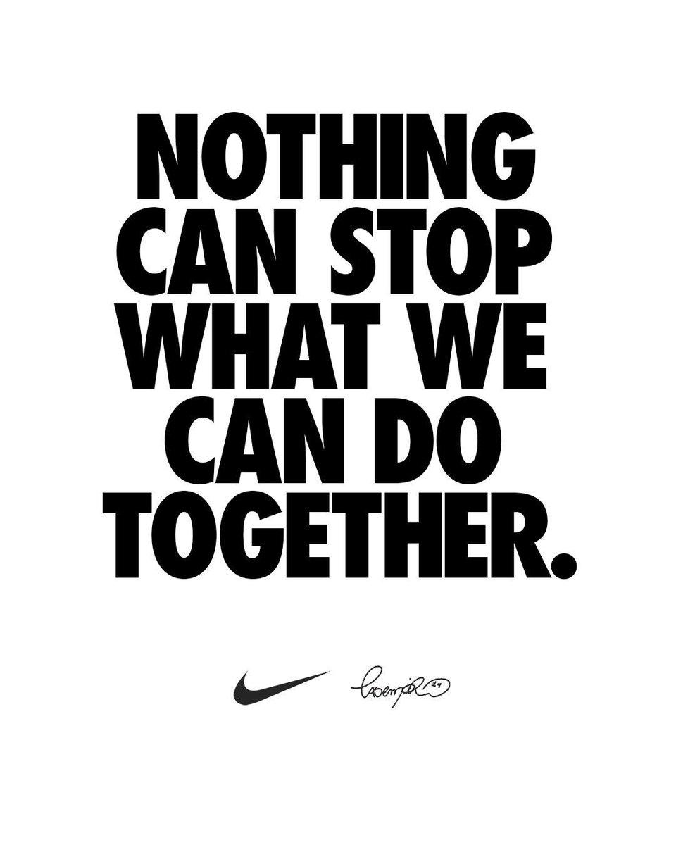 Nada pode parar o que nós podemos fazer juntos. #YouCantStopUs #TeamNike https://t.co/kWevEC1jYl