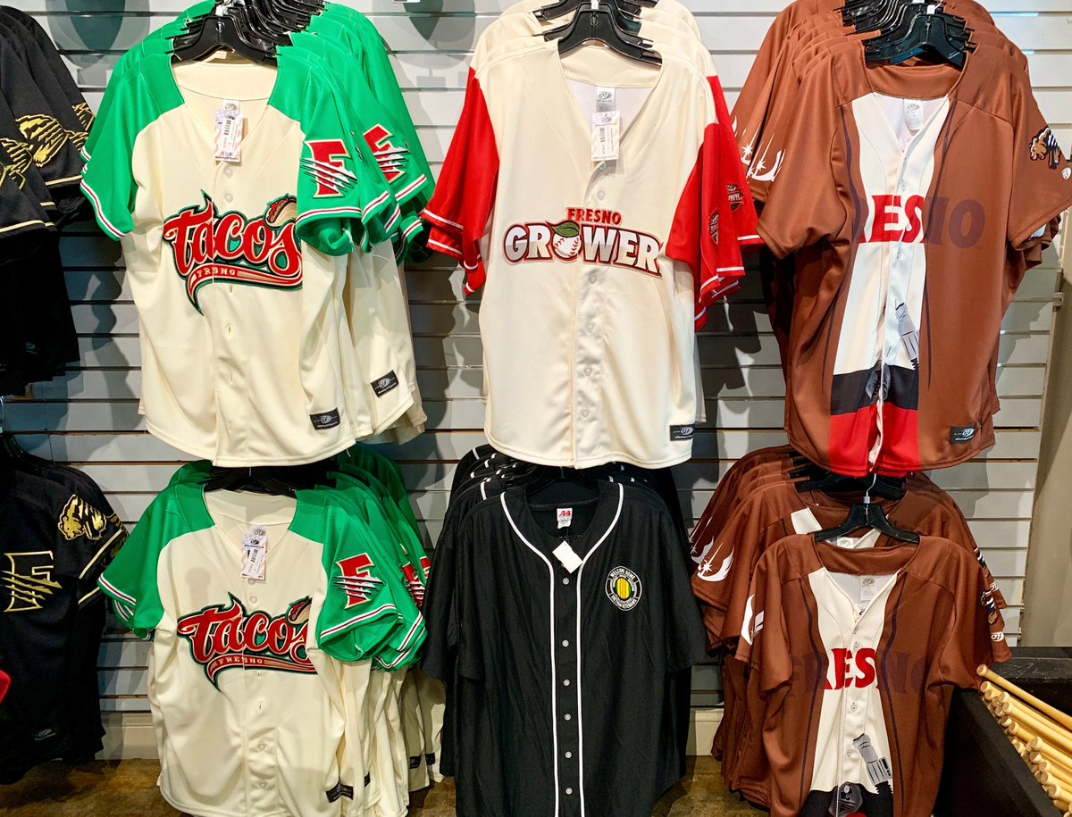 NEW THIS WEEK: It's always fun to stop by the souvenir shop at a @MILB game to see the gear and creative alternate uniforms. See our visit to see the @TripleABaseball @FresnoGrizzlies on Day 7 of our California Baseball Road Trip. mappingthepath.com/day-7-fresno-g… #travelblogger #travel