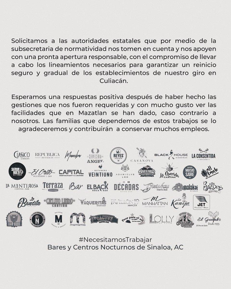 Por una apertura segura en #culiacan y buscando conservar nuestros empleos #necesitamostrabajar @QuirinoOCpic.twitter.com/FIW1tqSerK