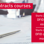 Image for the Tweet beginning: Our DFID contracts courses will