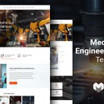 Image for the Tweet beginning: Mechanical #Engineering #Website TemplateView live
