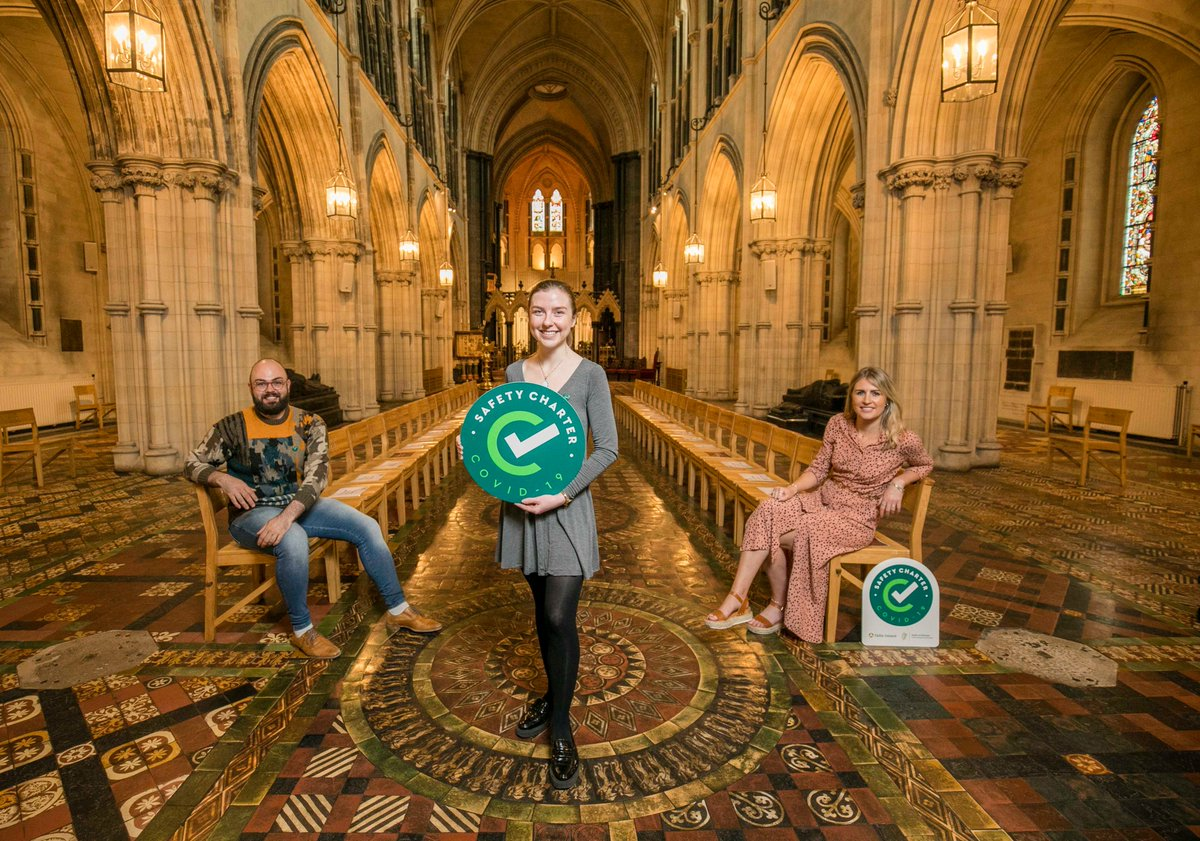 The new Fáilte Ireland COVID-19 Safety Charter is a clear visual indicator that it's safe to visit local restaurants, attractions& #tourism accommodation. Christ Church Cathedral received their certificate and encourages others to apply 👉 https://t.co/qwWmGT6Trk #TourismTogether https://t.co/XOTB53HUqm