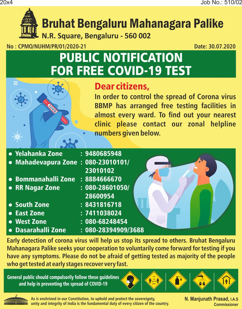 Gaurav Gupta On Twitter Attn Free Covid 19 Test Early Detection Of Covid19 Will Help Stop The Spread To Find The Nearest Testing Centre Near You Please Contact The Zonal Helpline Nos Below