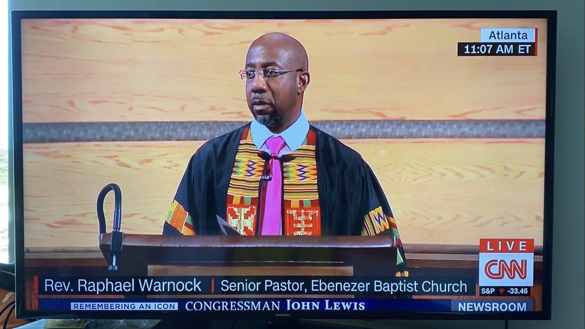 RIP John Lewis @ReverendWarnock 🙌🏼 https://t.co/bwSn0bflFc
