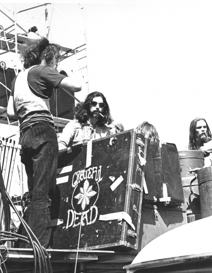 Mickey hanging out amongst the @GratefulDeads equipment at the side of the stage at the Sound Storm Festival in 1970. This was Wisconsins first outdoor rock festival. #TBT