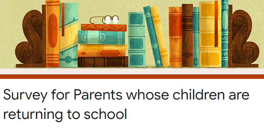 Parents: please respond to the Health Department Parent Survey