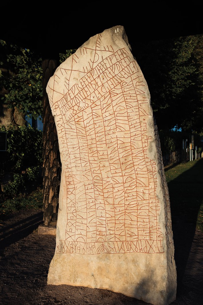 Sweden's Rök runestone is carved with the longest known runic inscription, which relates the untimely death of a young man named Vamoth so that he could join Odin's army in #Ragnarok, the apocalyptic battle of the #Norse gods against enemy giants.  https://t.co/VAhz95NUIO https://t.co/QFdJulYfaF