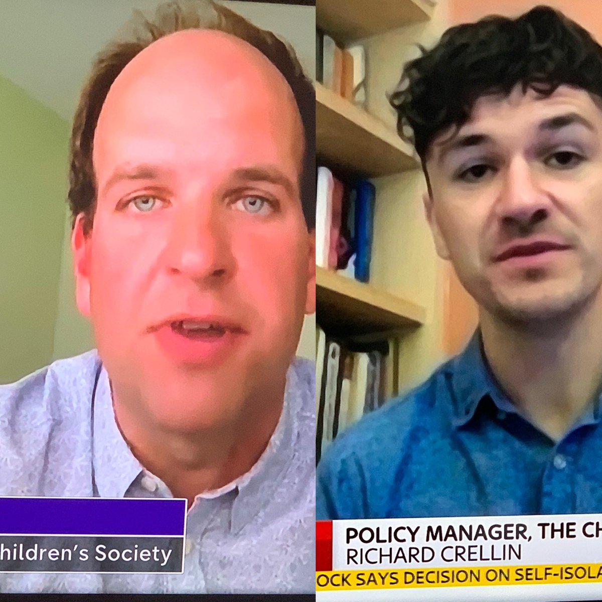 Really proud of our team today - @RichardCrellin on @SkyNews talking about the impact of Covid on children's well-being and @sam_royston on @Channel4News talking about people with no recourse to public funds #proudCEO https://t.co/KhXsw4TRgP