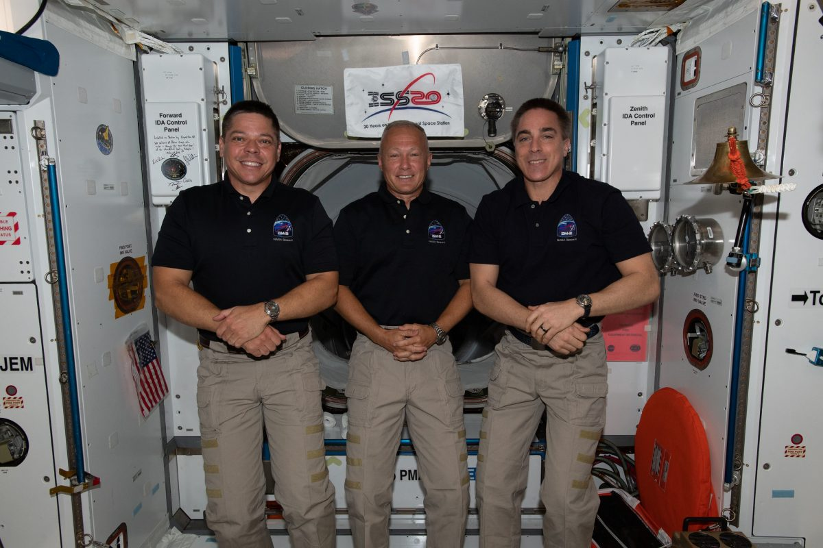 Tomorrow at 10:45 a.m. ET, join us as @AstroBehnken and @Astro_Doug address their upcoming @SpaceX Crew Dragon departure & splashdown in a news conference from the @Space_Station.  Fellow @NASA astronaut @Astro_SEAL will also join the 30-minute conference: https://t.co/NK2Dx9gdSY https://t.co/O9o3AnvfCD
