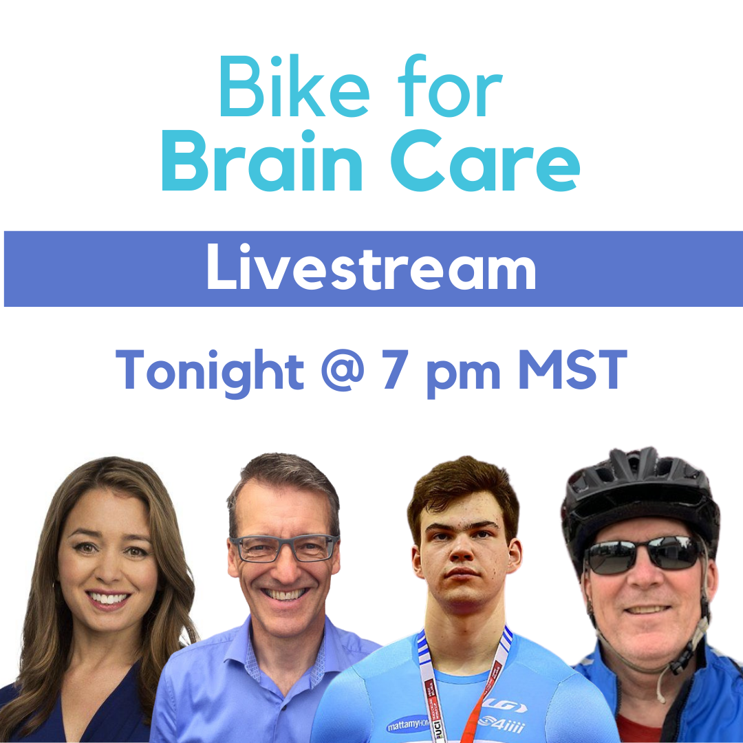 Our #BikeForBrainCare Kick-off Livestream is happening TONIGHT at 7pm MST on the BCC Facebook page. 🚲  Tonight's Live is hosted by @SuLingGoh, and will feature national team cyclists @AlexStieda & @StefanRitter7, and leading emergency medicine researcher Dr. Brian Rowe! #yeg https://t.co/EwxhHPhwk7