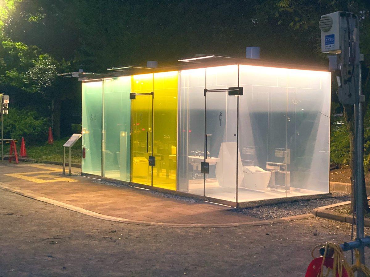 日本為了預防犯罪,所以推出了可以變透明的廁所! EeMAyooUEAA-vpX