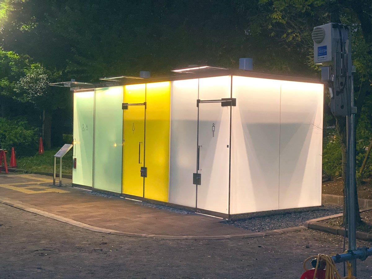 日本為了預防犯罪,所以推出了可以變透明的廁所! EeMAypHVoAA5eyv