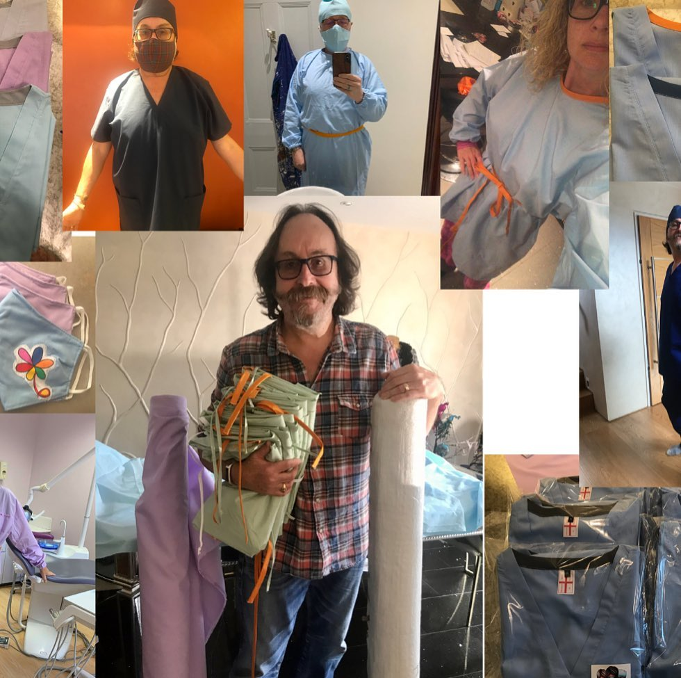My wife, Lili, has been busy in the past months making hundreds of much needed garments for medical staff in battling COVID. She joined sewing enthusiasts who donated their time and skills, so thank you to #craftingforcarers for the work and #belledorm for the fabric donated!! https://t.co/NR0EpyMmYA