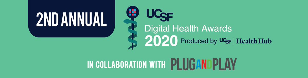 Plug and Play is collaborating with @ucsfhealthhub for UCSF Digital Health Awards 2020. Inviting applications from exceptional digital technologies that are redefining #healthcare 👉 https://t.co/IpUHH53L0b   #digitalhealth #innovation #UCSFDHA2020 @ucsfhealthaward https://t.co/lG0K2wCIng