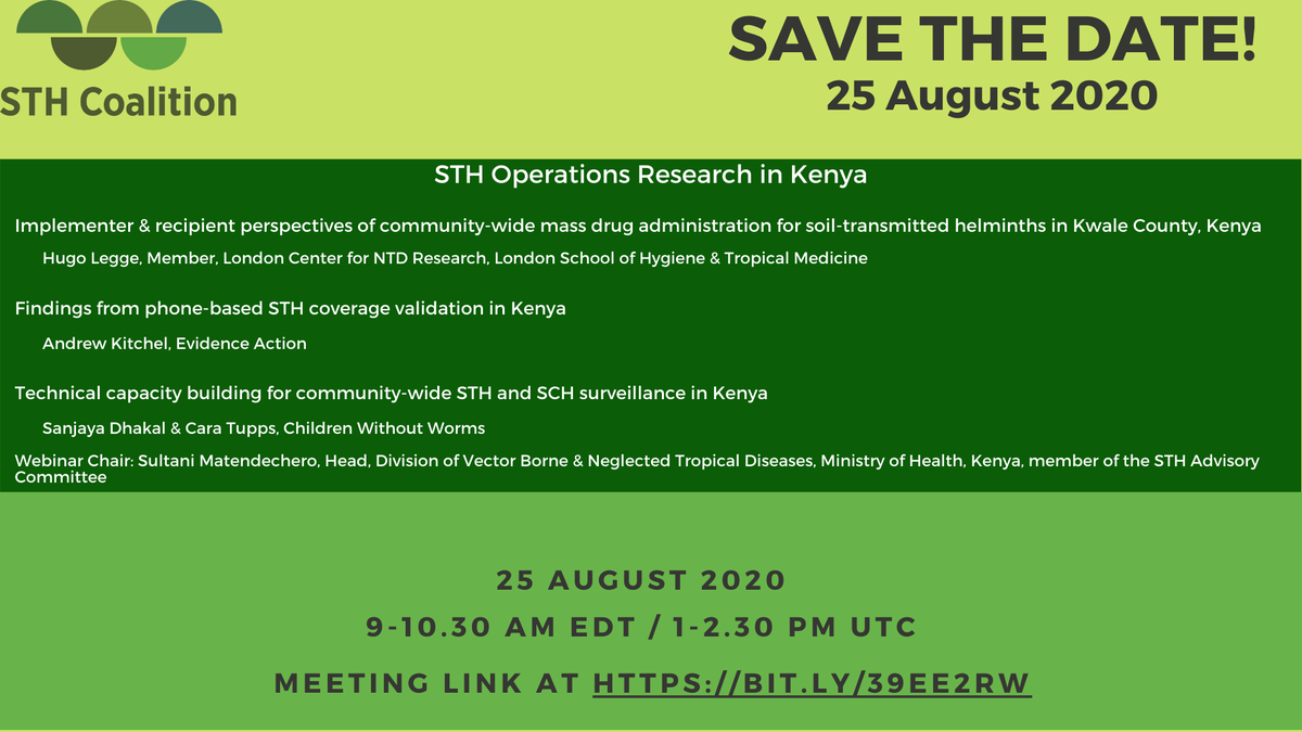 Looking forward to this interesting session on #operationsresearch to #stoptheworms in #Kenya!