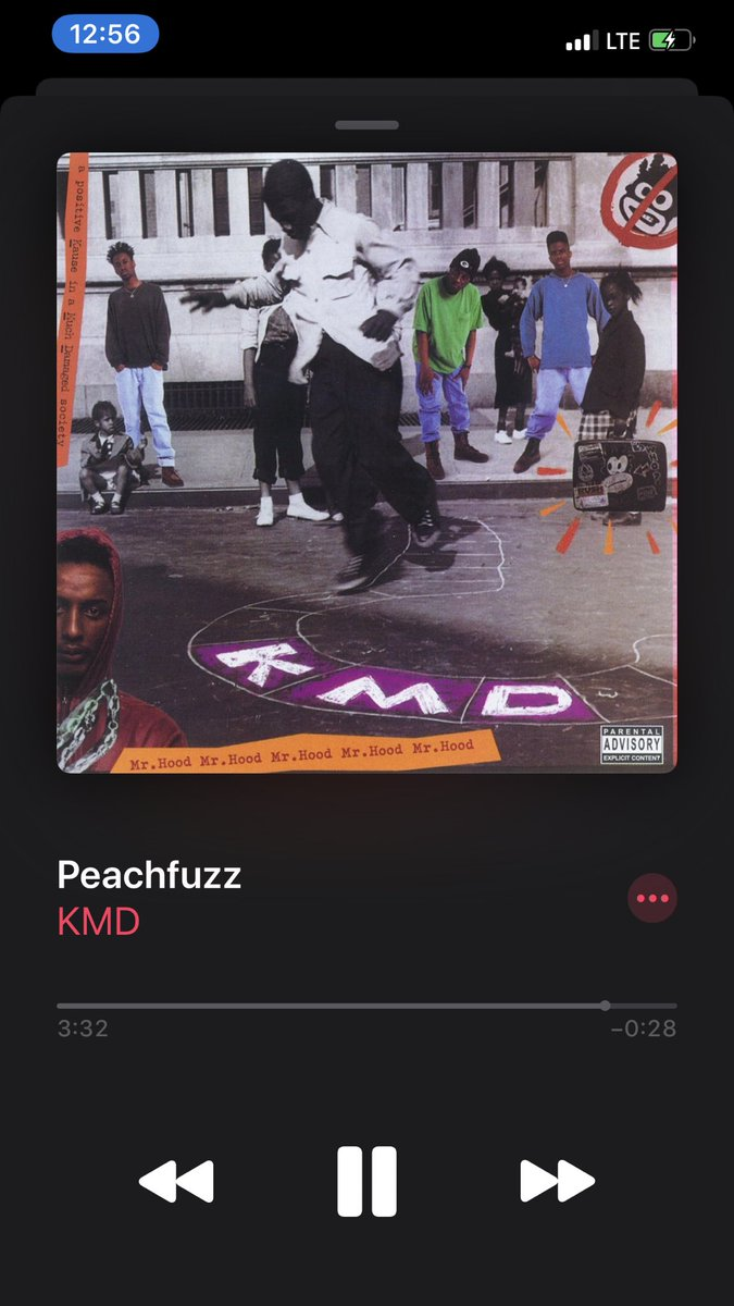 "Old School Hip Hop Joint of the day!  How many of y'all remember Hip Hop Group KMD? Members consisted of  Zev Love X, DJ Subroc & Onyx the Birthstone Kid.  ""Peach Fuzz"" was my song back in the day.  Dope MC, Zev Love X will later become MF Doom  #HipHopEd pic.twitter.com/u9lxtE8jhZ"