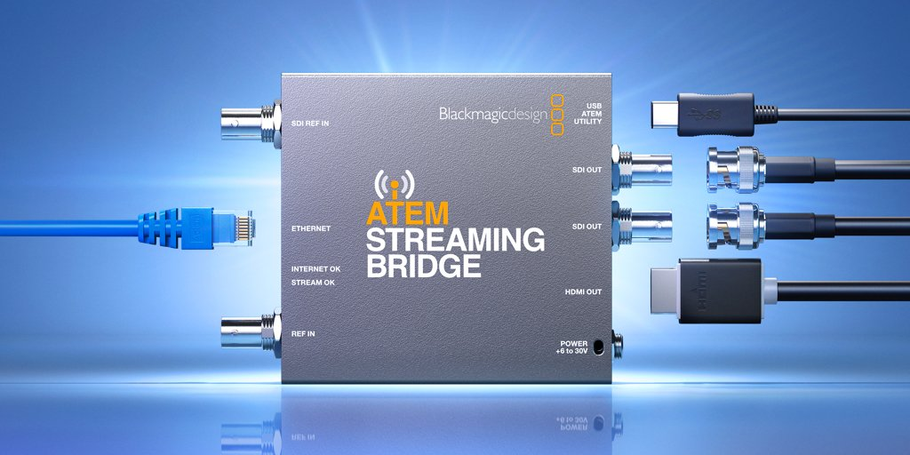 Blackmagic Design On Twitter Introducing Atem Streaming Bridge New Converter Decodes H 264 Live Stream From Atem Mini Pro So You Can Connect Direct To Any Broadcaster Anywhere In The World Via The