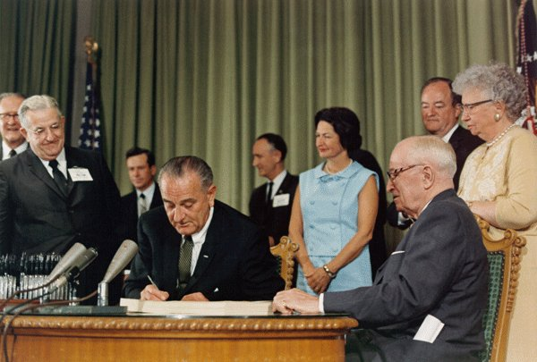 #OTD in 1965, President Lyndon B. Johnson signed into law legislation that established the #Medicare and #Medicaid programs. For 55 years, these programs have protected the health and well-being of millions of American families.