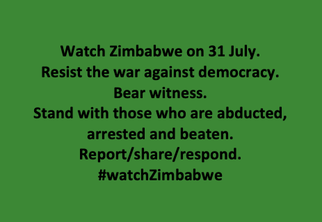 Hi folks, can everyone stop with the buffoon in the White House for 48 hours? The govt of Zimbabwe is waging a war on democracy. A nationwide protest is planned for *tomorrow* 31 July. The response will be nasty. Pay attention. Bear witness. #Thread. 1/6 #Zimbabwe #watchzimbabwe