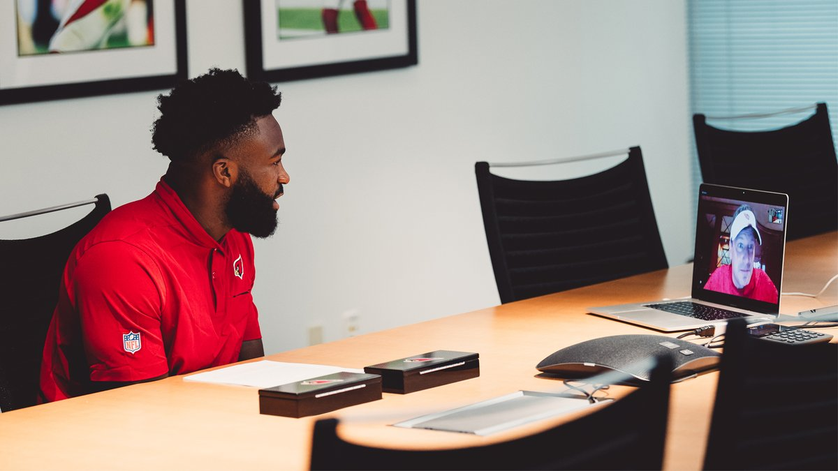 A familiar face in the Valley. @EnoB officially inked his rookie deal, and met virtually with Cardinals Owner Michael Bidwill.