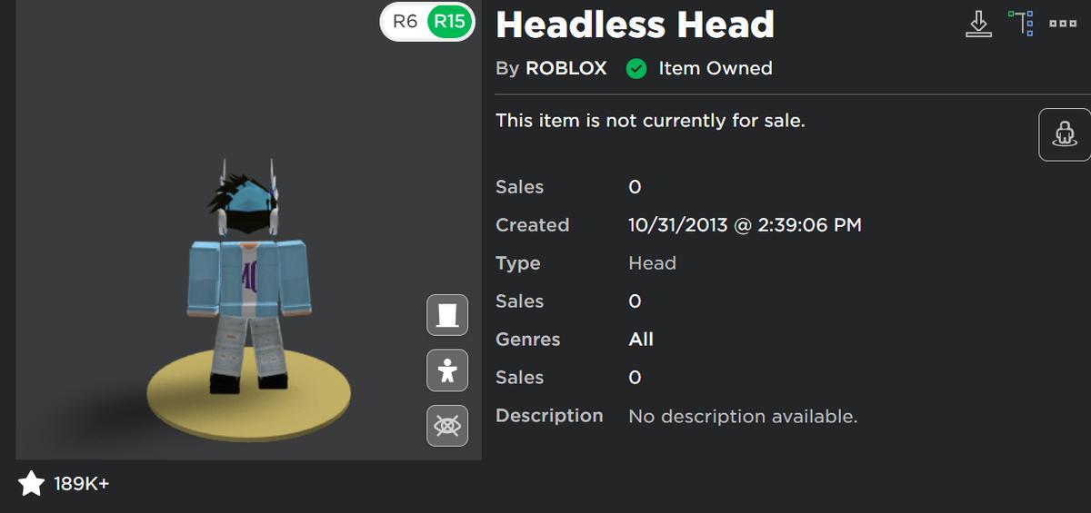 How Much Is The Headless Head Roblox 2020 Chris On Twitter Imagine Paying 31 000 Robux For A Head Loooooooooool Oh Wait