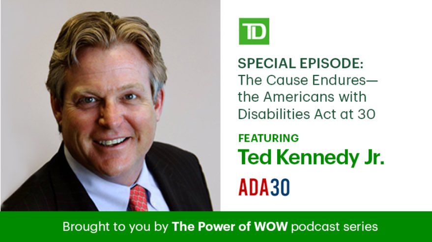 TY to @TDBank_US for making disability equality and inclusion a key strategic goal for your business. Leading businesses know that disability inclusion also drives superior financial performance and shareholder returns. #ADA30 #disabilityequalityindex.