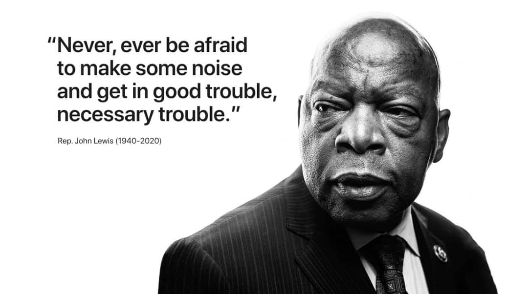 Died with integrity..... A leader who sacrificed and saw making noise was considered good trouble....Never be afraid to rock the boat when necessary....Right now it's really Necessary! John Lewis #impact was Real..... https://t.co/lZ6WE4qmt6