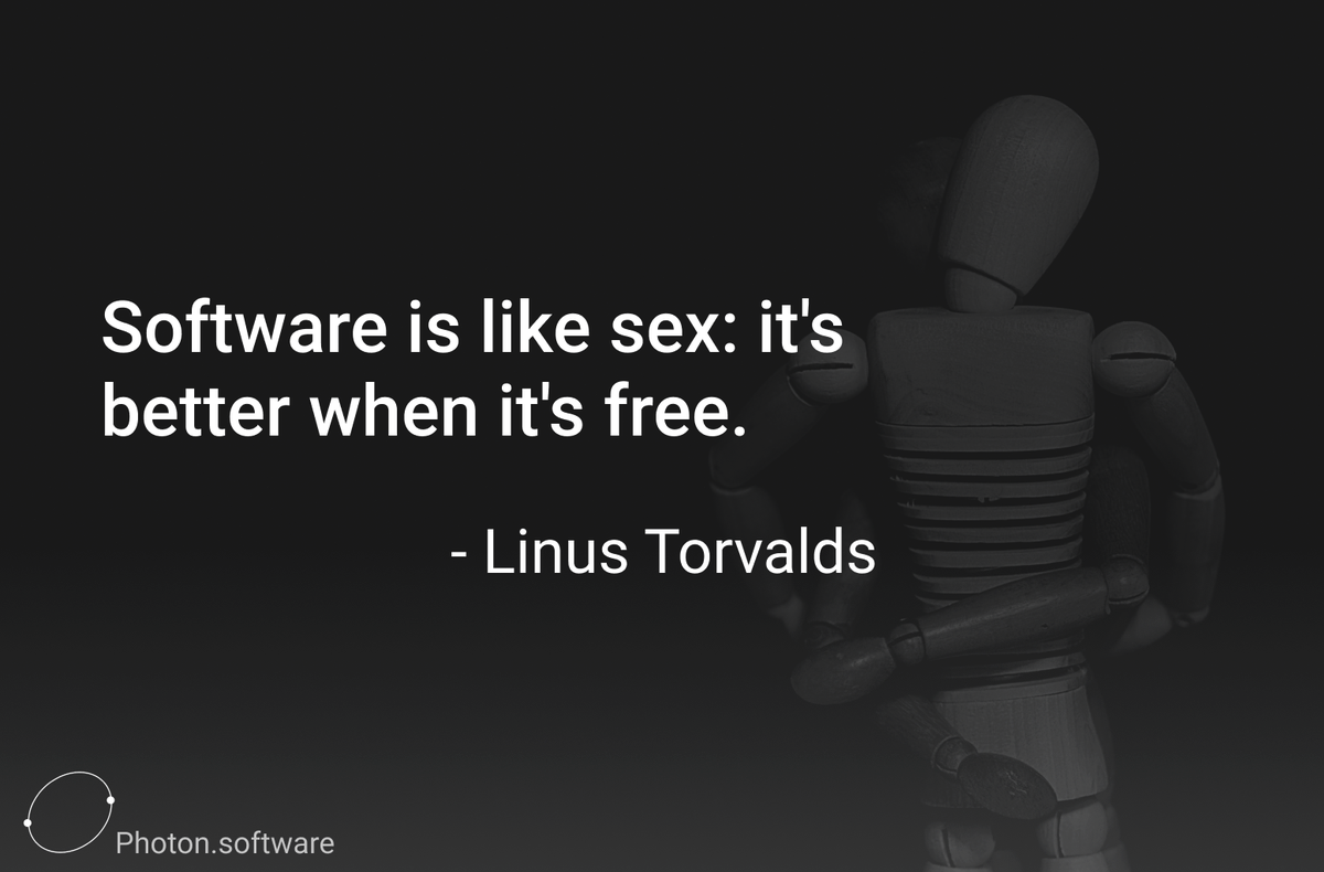 ... So what does that make those who charge for the use of their software?  Photo By Gaelle Marcel on #unsplash  #software #quotes #computerScience #memes #techMeme #funnyTech #programmingJoke #linuxpic.twitter.com/QMTUH7NUGQ