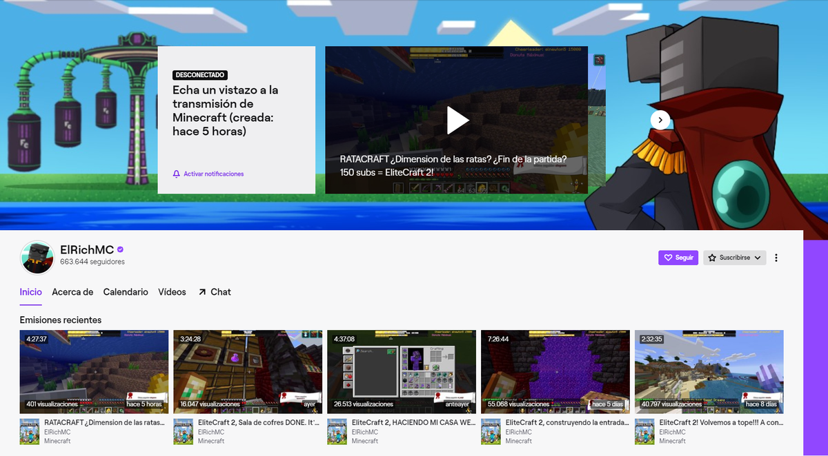 Replying to @ElRichMC: Nuevo banner de Twitch :)