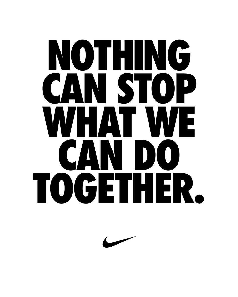 Together we are stronger. Becasuse as one we can change the world ✊🏾. #YouCantStopUs @usnikefootball
