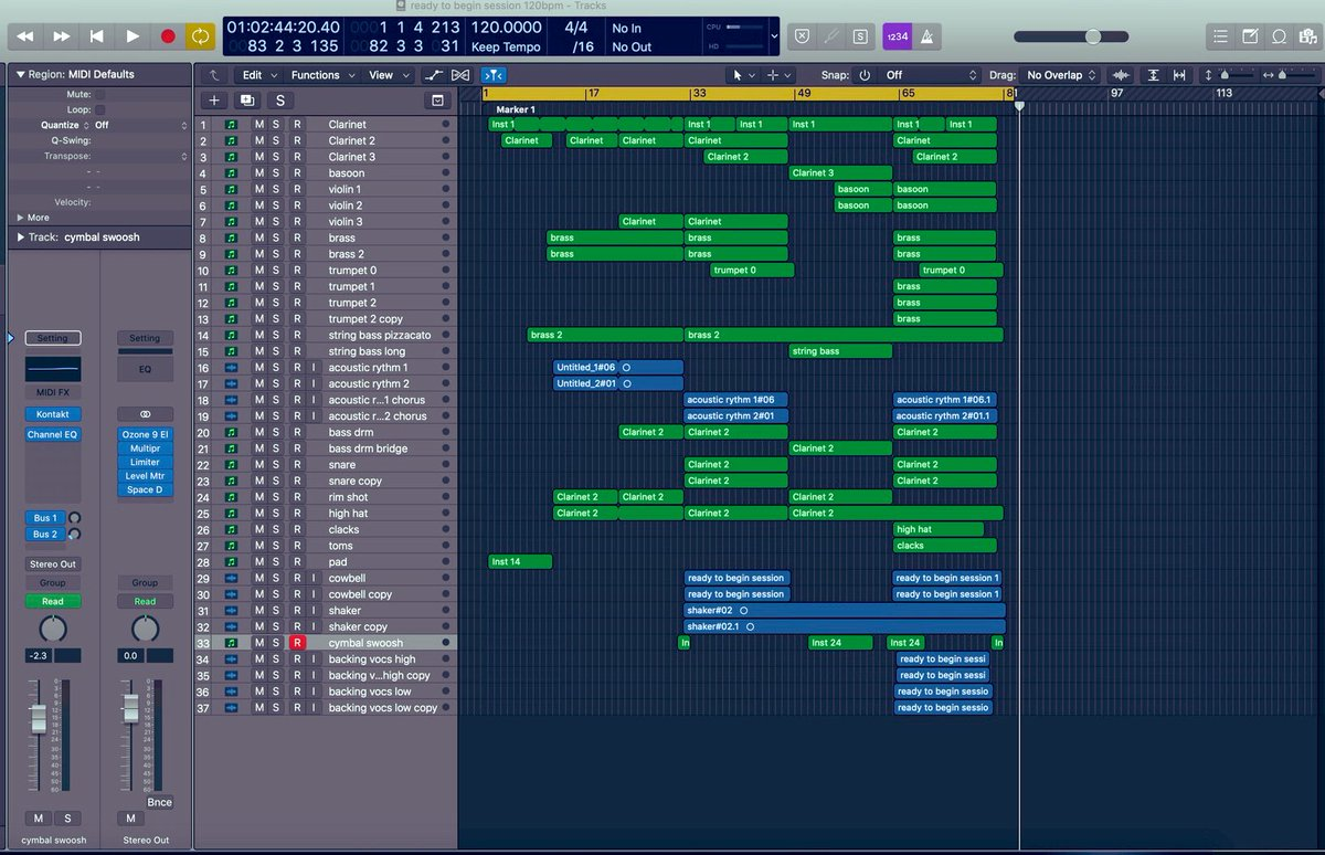 Tired already... not even colour coded or stacked em yet.                 Ah well, it's a happy flute symphony at least...  #composer #musicsupervisor #filmscore pic.twitter.com/hvFAMWINQh