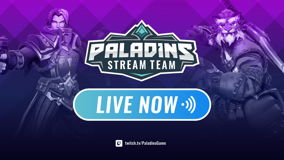 The Paladins Stream Team is live on Twitch! Go give @tpdmagic a shout out in chat and watch some fun Paladins action. twitch.tv/paladinsgame