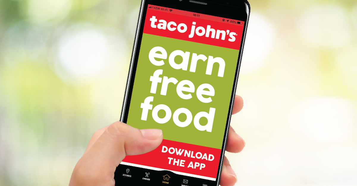Who doesn't love free food? Download the Taco John's app – for every 8 visits, you'll get a FREE combo meal. Plus, get a free welcome gift and surprise on your birthday!  Download now: https://tacojohns.com/app/ #TacoJohns #TacosEveryday pic.twitter.com/zUYrPIeYa5