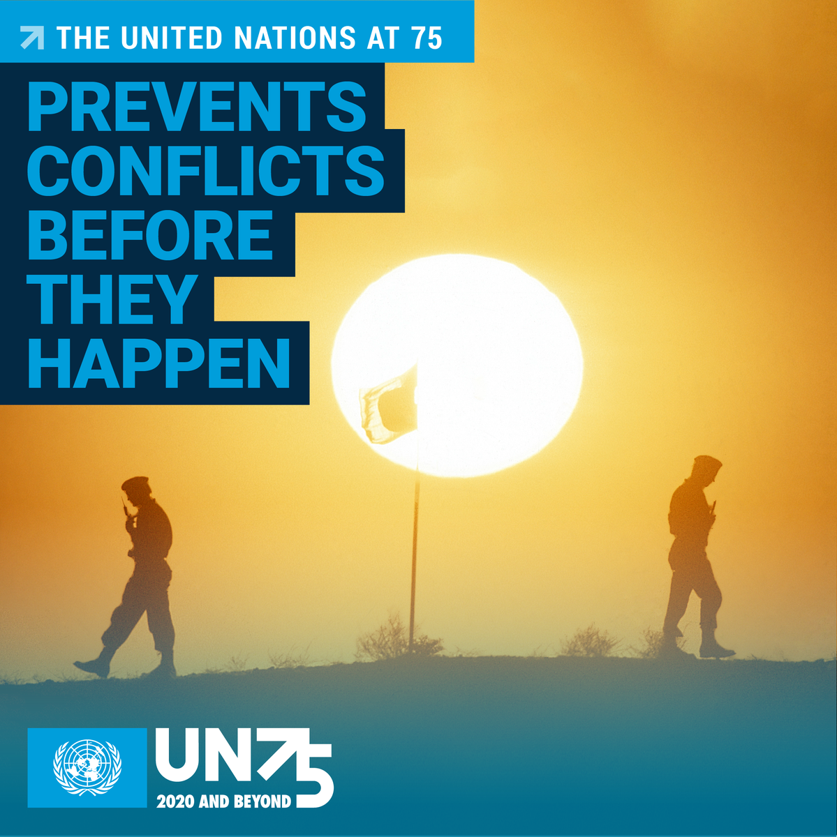 It may not always make the headlines -- but the UN works all over the world to prevent conflict and keep peace & stability. As the UN turns 75, see how else the Organization makes a difference in the lives of everyone, everywhere: un.org/en/un75 #UN75