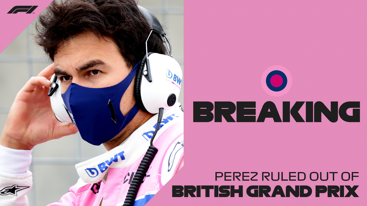 BREAKING: Sergio Perez will not take part in this weekend's British Grand Prix after testing positive for COVID-19   He is self-isolating and we wish him a speedy recovery  Racing Point's driver line-up will be announced in due course https://t.co/bfndFxqa9D