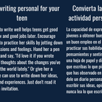 Image for the Tweet beginning: Make writing personal for your
