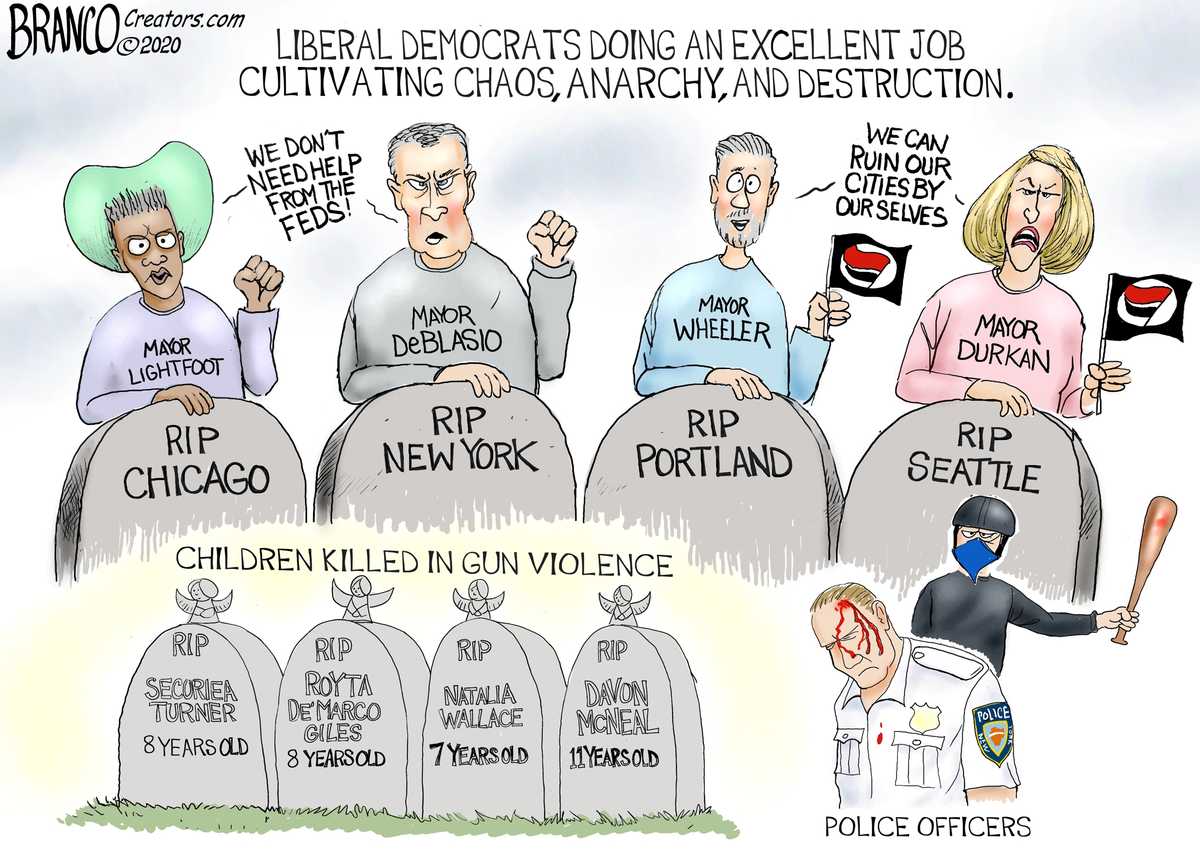 Radical-Left cultivated violent rage across the country, killing innocent children, brutally beating up our police, leaving chaos and destruction in its wake. Democrat mayors in liberal cities allow anarchy to spread with no end. Is this what we want for the future of America?
