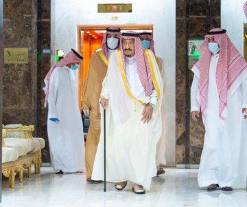 Raja Salman meninggalkan RS King Faisal pada Kamis (30/7/2020).